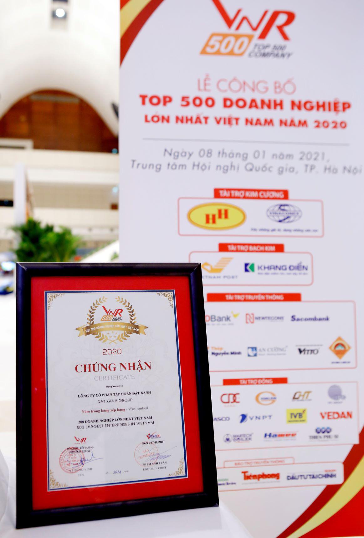 Tập đoàn Đất Xanh tiếp tục được vinh danh Top 10 doanh nghiệp BĐS tư nhân lớn nhất Việt Nam năm 2020 - Ảnh 2.