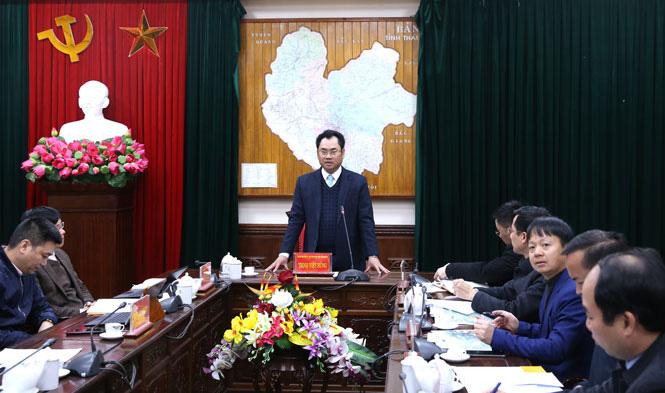 Chủ tịch UBND tỉnh Thái Nguyên chỉ đạo đẩy nhanh tiến độ thực hiện các dự án trên địa bàn - Ảnh 1.