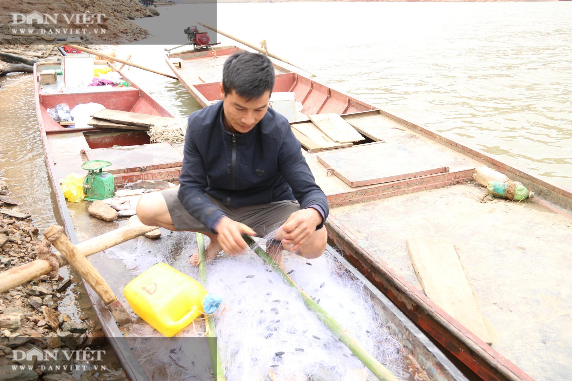 Đánh cá trong thời tiết rét buốt, ngư dân vẫn đút túi 1 triệu đồng/ngày - Ảnh 2.