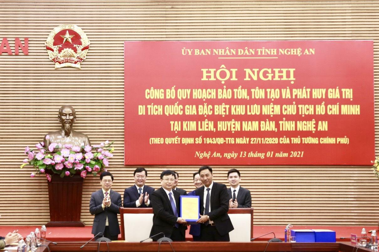 Công bố Quy hoạch bảo tồn, tôn tạo và phát huy giá trị Khu lưu niệm Chủ tịch Hồ Chí Minh tại Nghệ An - Ảnh 1.