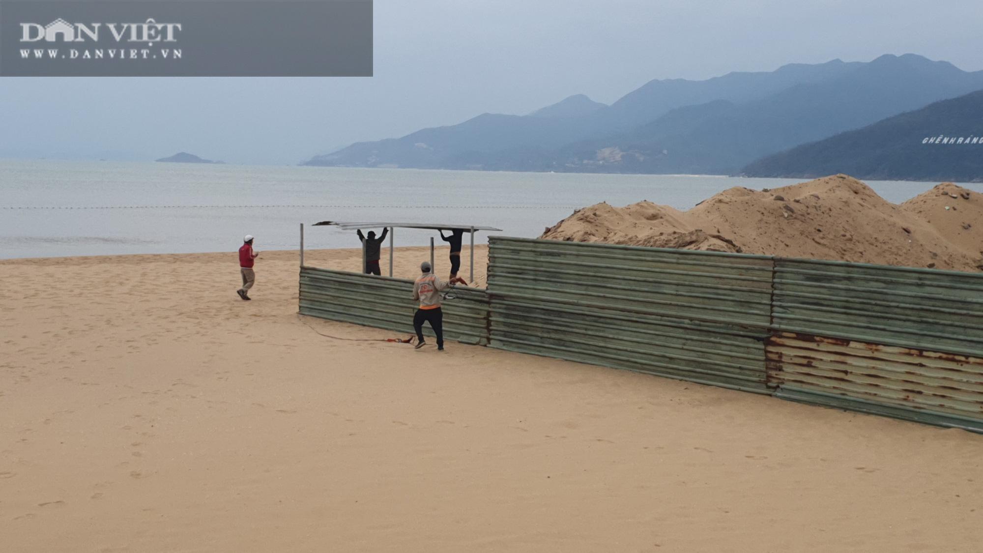 Cận cảnh cẩu 65 móng trụ bê tông không phép rời khỏi bãi biển Quy Nhơn - Ảnh 12.