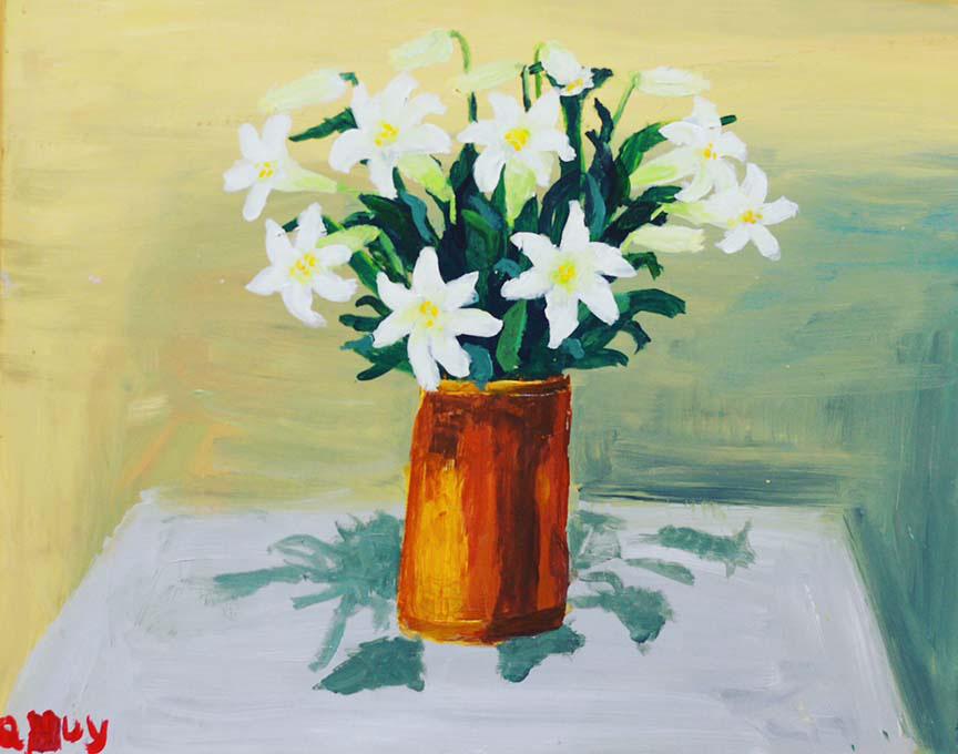 40 bức tranh của 6 em nhỏ mắc chứng tự kỷ được triển lãm tại Hà Nội - Ảnh 1.