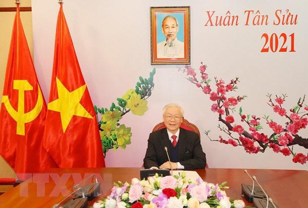 Tổng Bí thư Nguyễn Phú Trọng điện đàm với Tổng Bí thư Lào Sisoulith - Ảnh 1.
