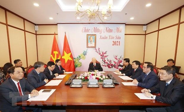 Tổng Bí thư Nguyễn Phú Trọng điện đàm với Tổng Bí thư Lào Sisoulith - Ảnh 2.