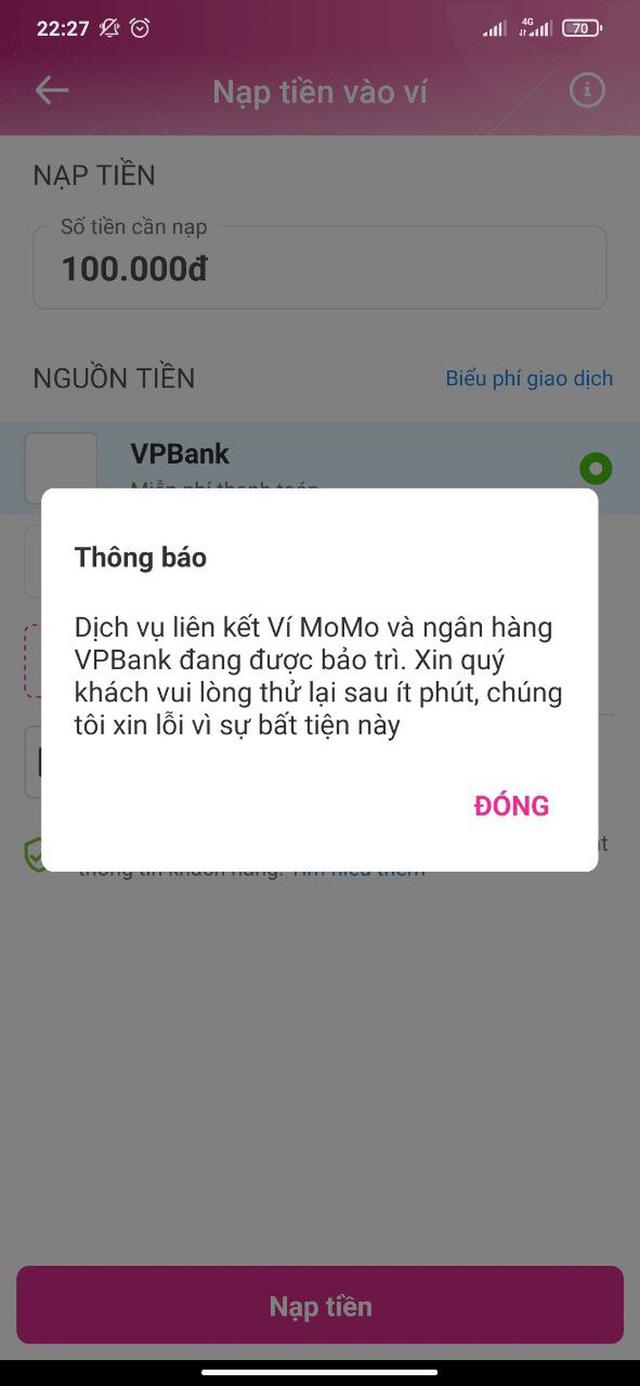 Những hình ảnh VPBank, TPBank gặp lỗi data toàn hệ thống, nguy cơ bị đánh mất thông tin khách hàng - Ảnh 3.