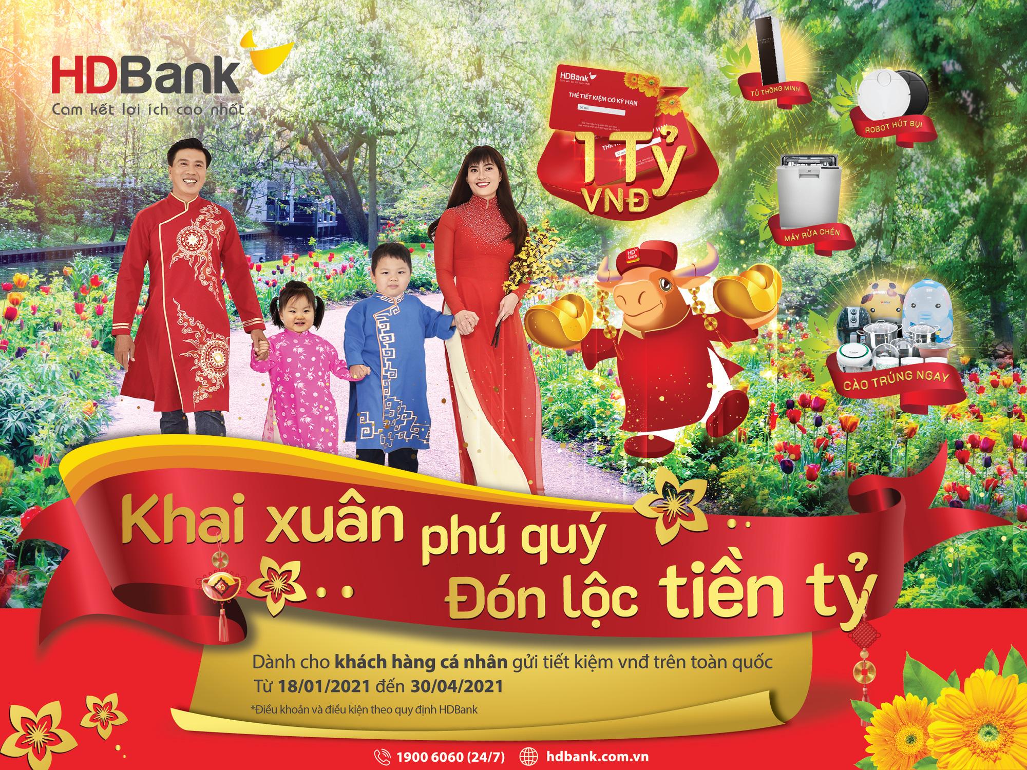 Gửi tiết kiệm ở HDBank nhận lộc tiền tỷ - Ảnh 1.