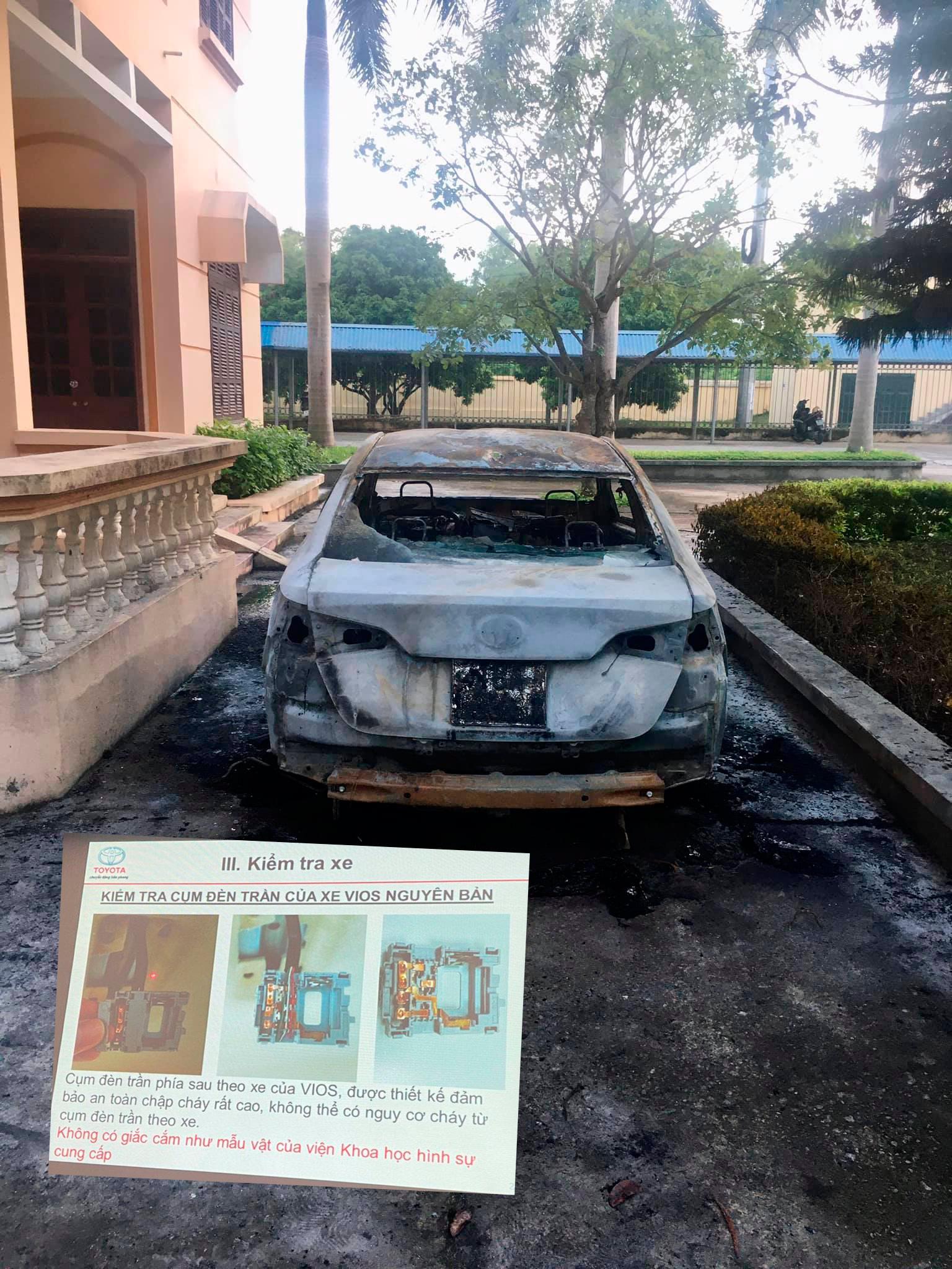 """Toyota Vios tự bốc cháy, chuyên gia kĩ sư ô tô """"mổ xẻ"""" - Ảnh 1."""