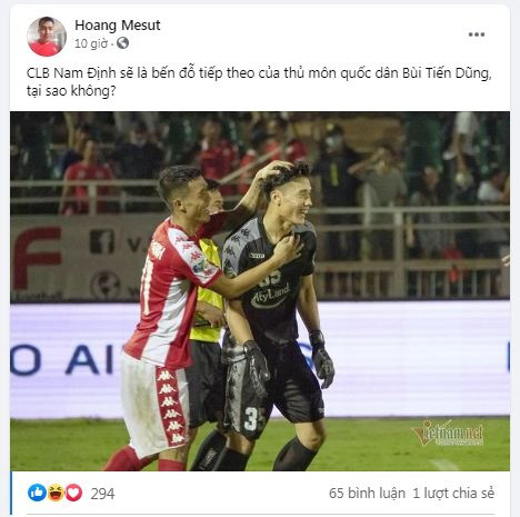 """CĐV Nam Định muốn """"giải cứu"""" Bùi Tiến Dũng khỏi TP.HCM - Ảnh 1."""