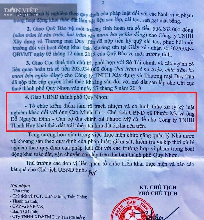 """Hơn 1 năm """"rút ruột"""" tài nguyên không phép, doanh nghiệp bị Phó Chủ tịch Bình Định phạt tiền tỷ - Ảnh 2."""