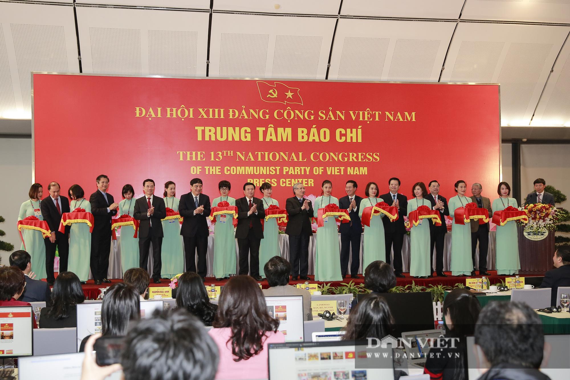 Khai trương trung tâm báo chí phục vụ Đại hội XIII của Đảng - Ảnh 1.