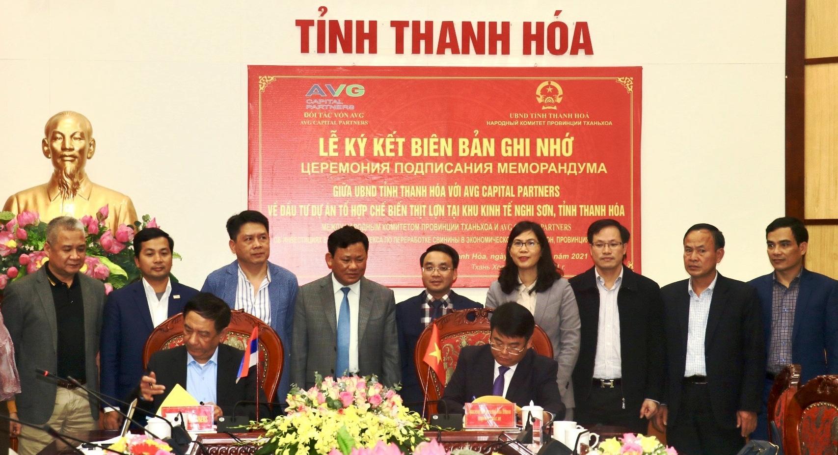 Tập đoàn AVG muốn đầu tư Tổ hợp chế biến thịt lợn với tổng số vốn khoảng 1,4 tỷ USD vào Thanh Hóa - Ảnh 1.