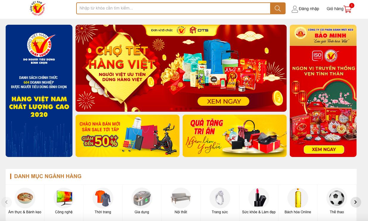 Hàng Việt có sàn thương mại điện tử riêng, vừa ra mắt đã mở ngay chợ Tết online, còn giảm giá khủng - Ảnh 3.