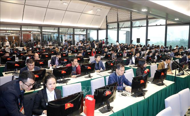 Gần 500 phóng viên, biên tập viên các cơ quan báo chí trực tiếp đưa tin Đại hội XIII của Đảng - Ảnh 4.