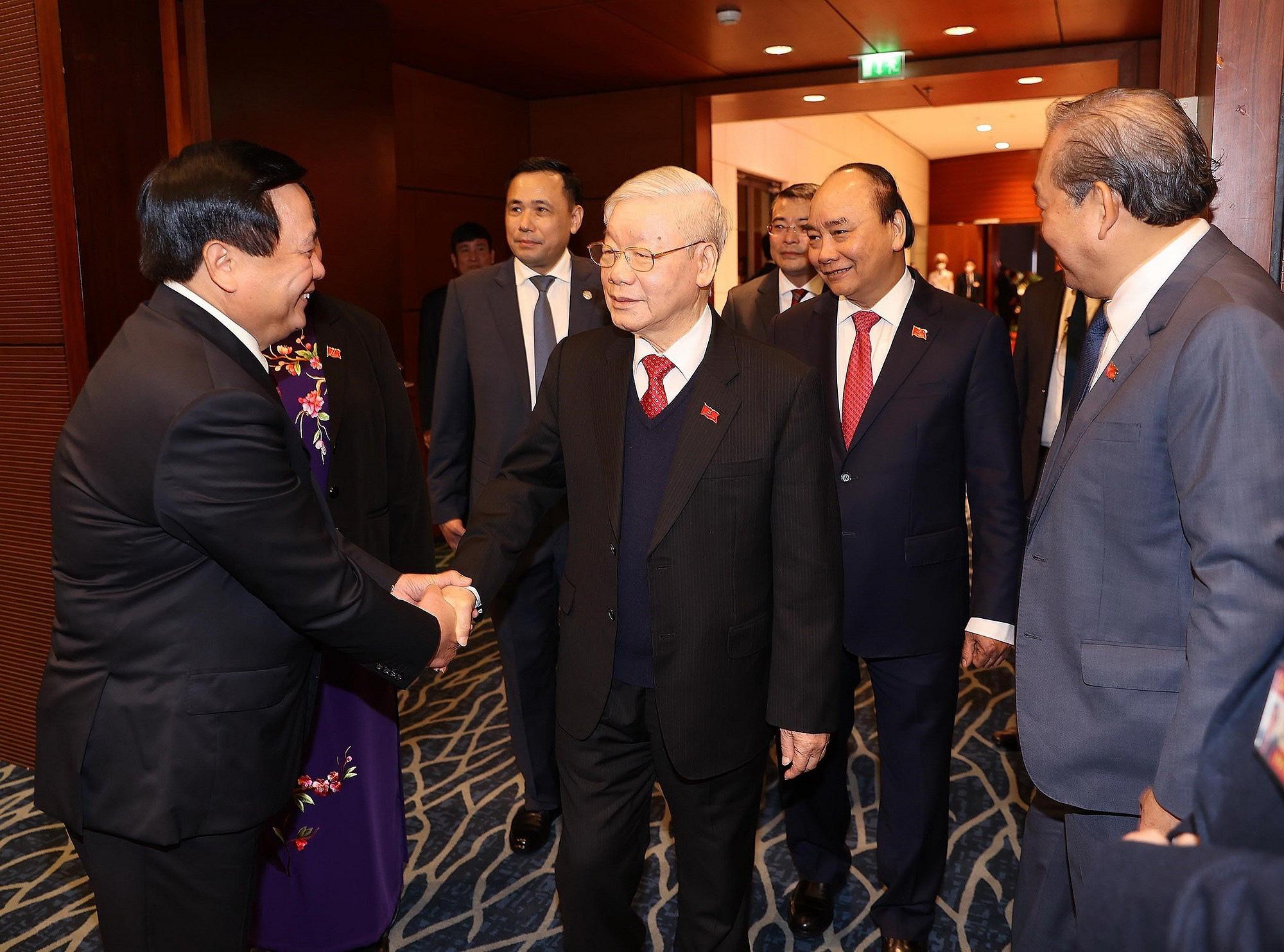 Tổng Bí thư, Chủ tịch nước dự phiên họp trù bị Đại hội Đảng XIII - Ảnh 5.
