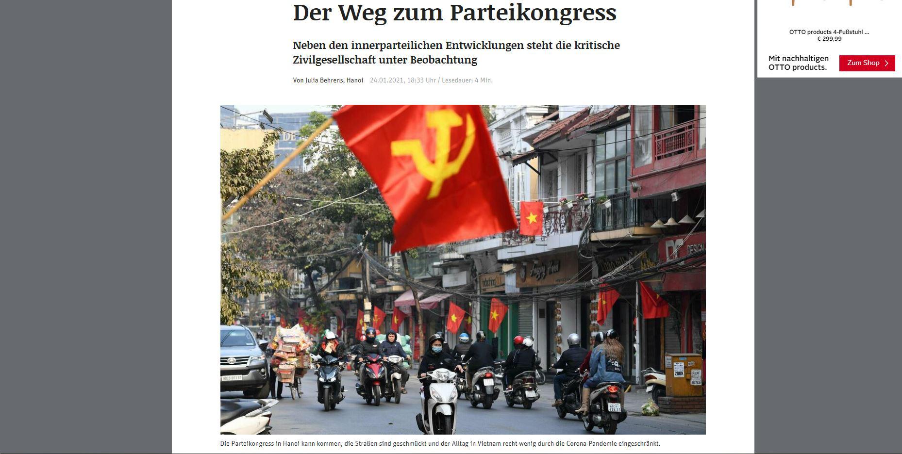 Hàng loạt hãng tin, truyền thông quốc tế đưa tin về Đại hội XIII của Đảng - Ảnh 3.