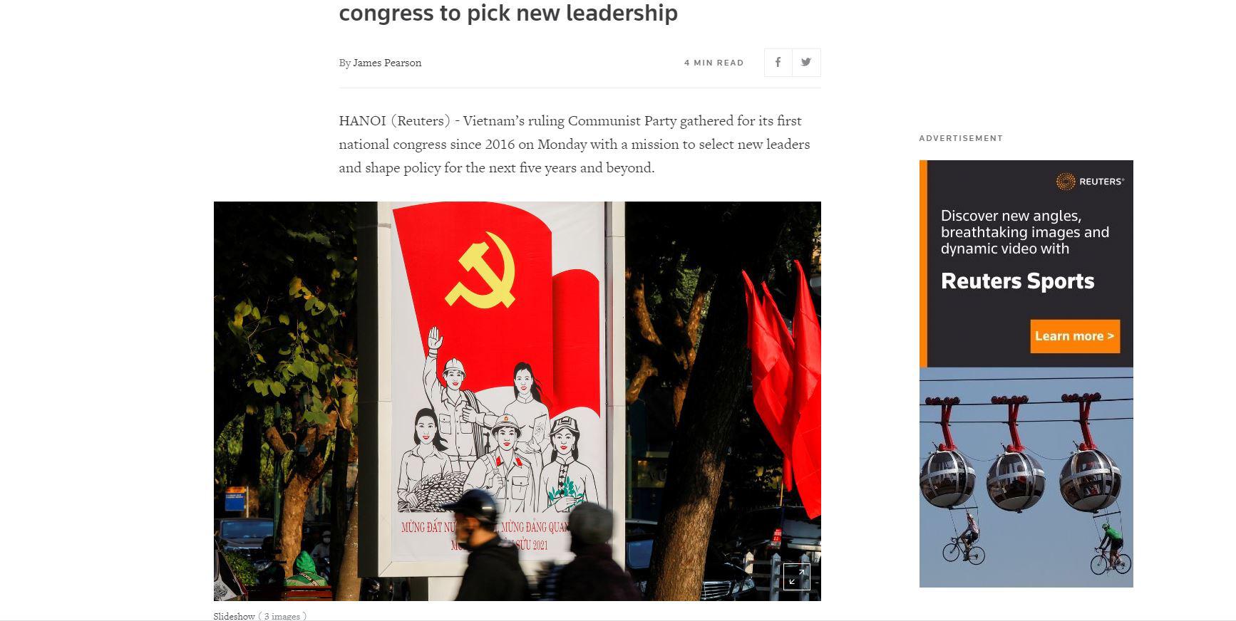 Hàng loạt hãng tin, truyền thông quốc tế đưa tin về Đại hội XIII của Đảng - Ảnh 5.
