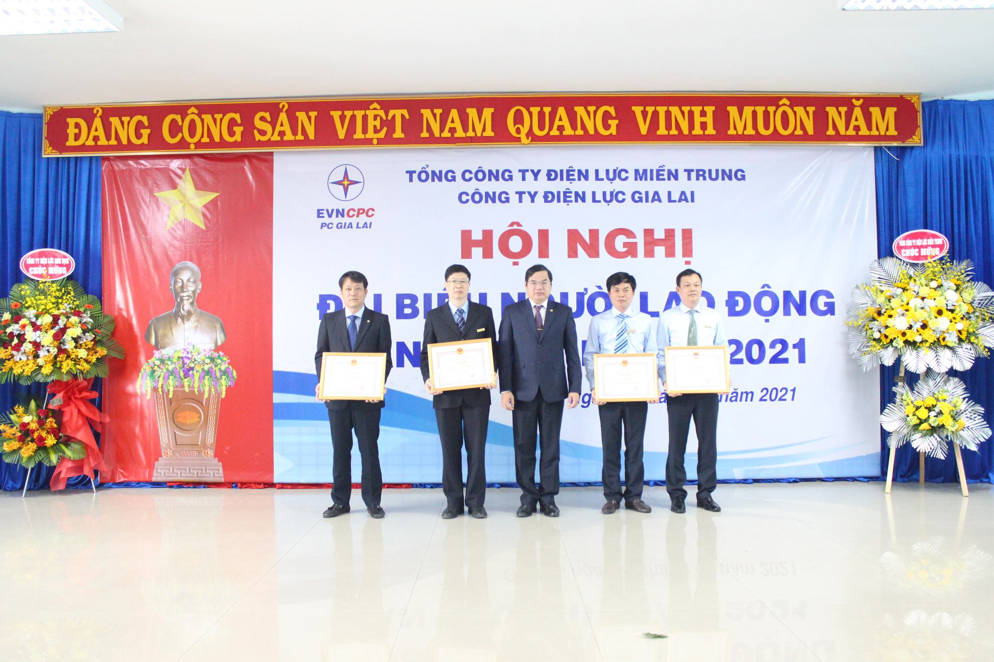 Công ty Điện lực Gia Lai: Tổ chức Hội nghị đại biểu người lao động và triển khai nhiệm vụ năm 2021 - Ảnh 1.
