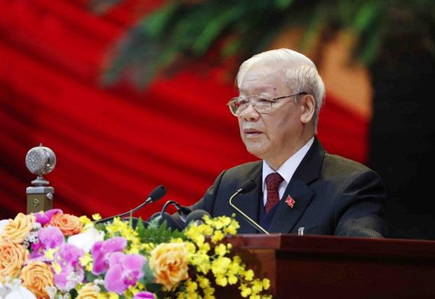 Tổng Bí thư Nguyễn Phú Trọng: Xin hứa với Đại hội, Ban Chấp hành T.Ư sẽ là một khối đoàn kết, thống nhất cao - Ảnh 1.
