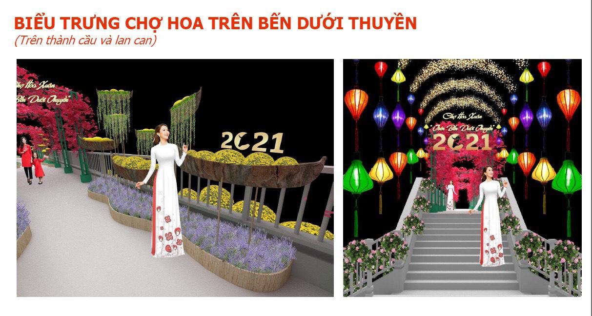 """TP.HCM: Chợ hoa Xuân """"trên bến dưới thuyền"""" được đưa vào chuỗi sự kiện văn hoá lễ hội tiêu biểu  - Ảnh 1."""