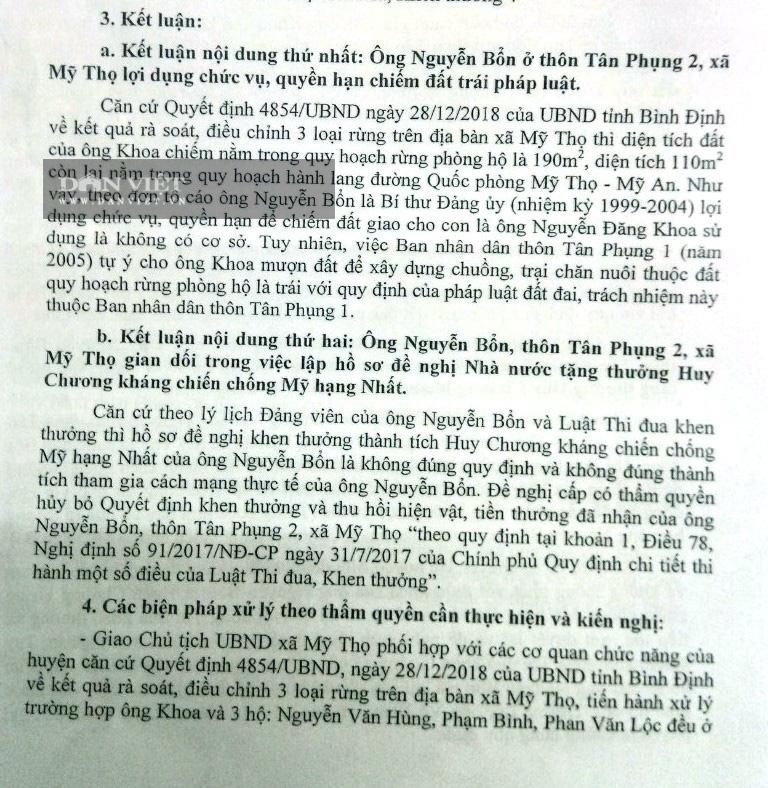 """Bình Định đề nghị thu hồi Huy chương kháng chiến chống Mỹ hạng Nhất vì """"man khai thành tích"""" - Ảnh 2."""