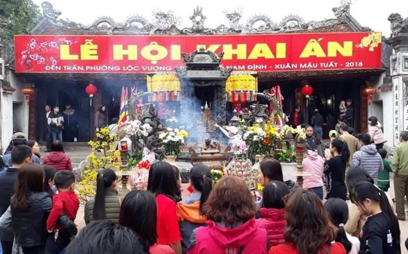 Nam Định thông báo dừng lễ hội khai ấn đền Trần: - Ảnh 1.