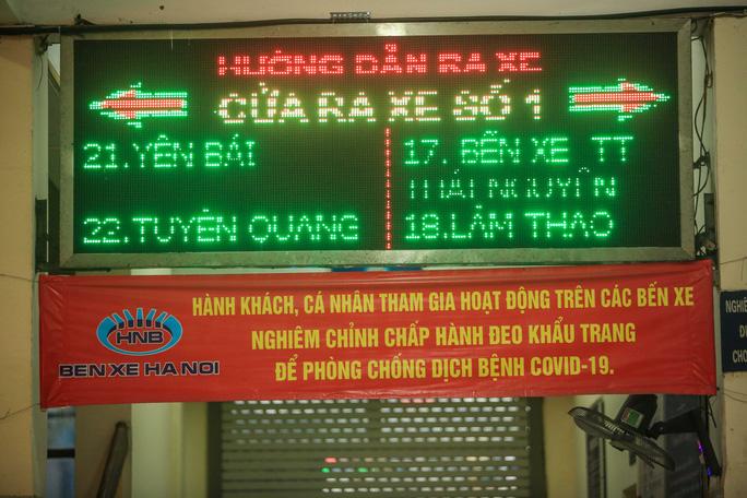 Hà Nội, TP.HCM: Các bến xe khách đồng loạt siết chặt công tác phòng dịch - Ảnh 3.