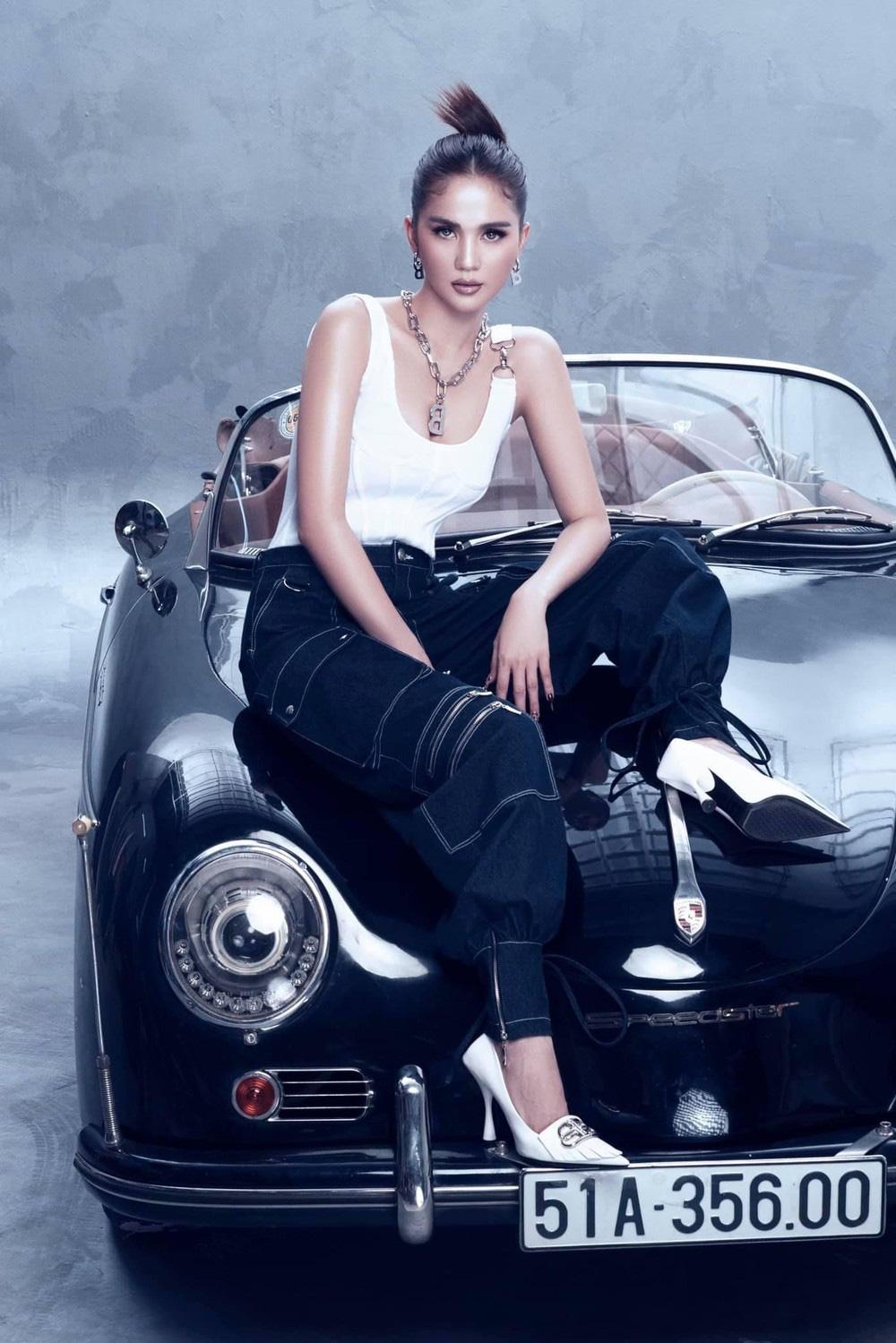 Ngọc Trinh tung bộ ảnh khó cưỡng bên xe Porsche cổ - Ảnh 7.