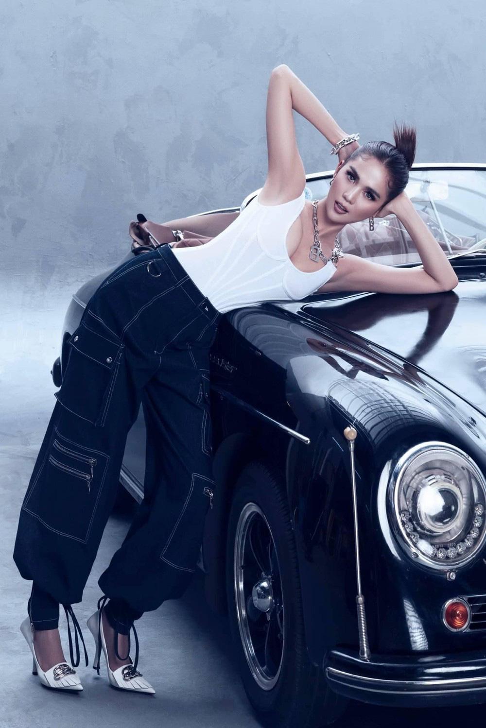 Ngọc Trinh tung bộ ảnh khó cưỡng bên xe Porsche cổ - Ảnh 9.