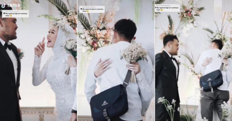 Cô dâu xin phép chồng ôm người yêu cũ trong đám cưới gây sốt mạng - Ảnh 2.