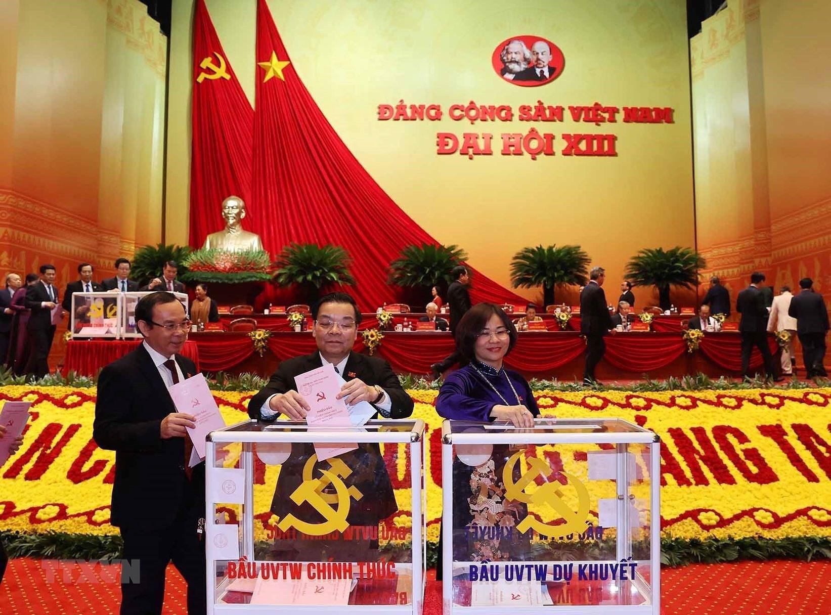 Đại hội XIII đã bỏ phiếu bầu Ban Chấp hành Trung ương khóa mới - Ảnh 5.