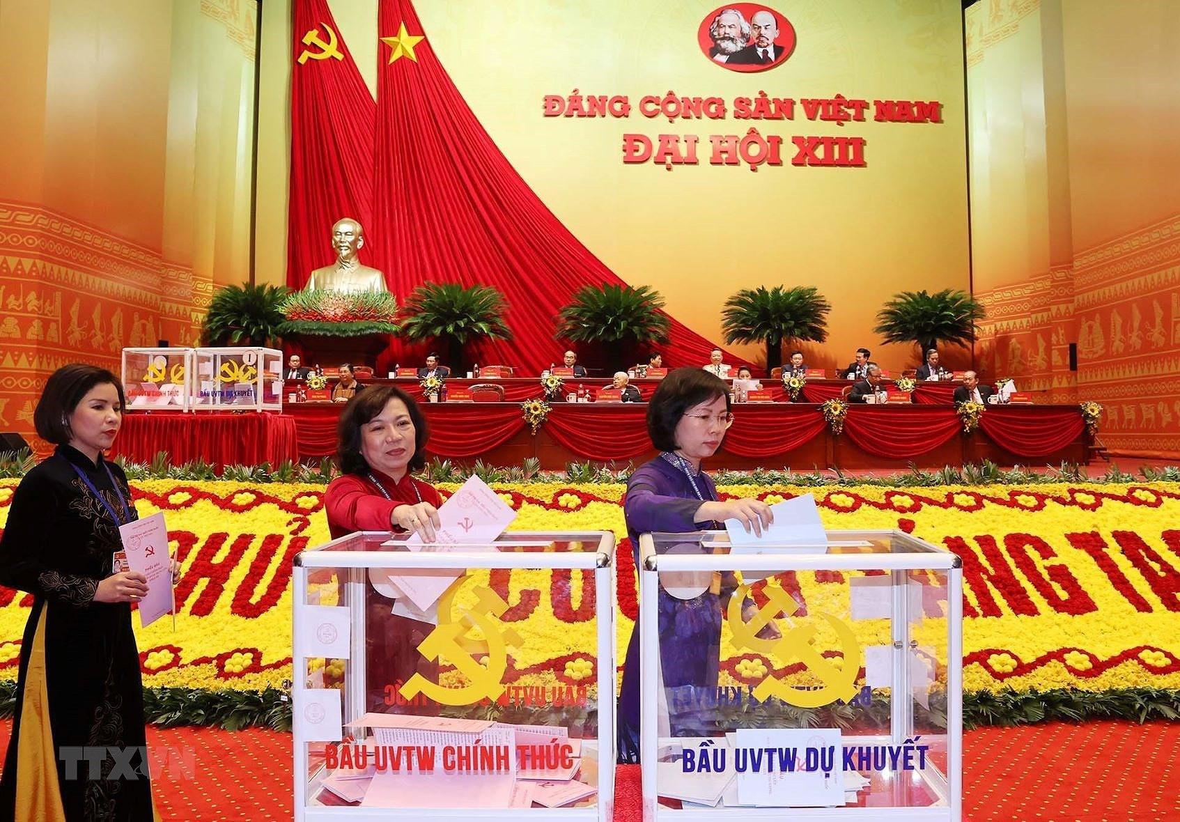 Đại hội XIII đã bỏ phiếu bầu Ban Chấp hành Trung ương khóa mới - Ảnh 8.