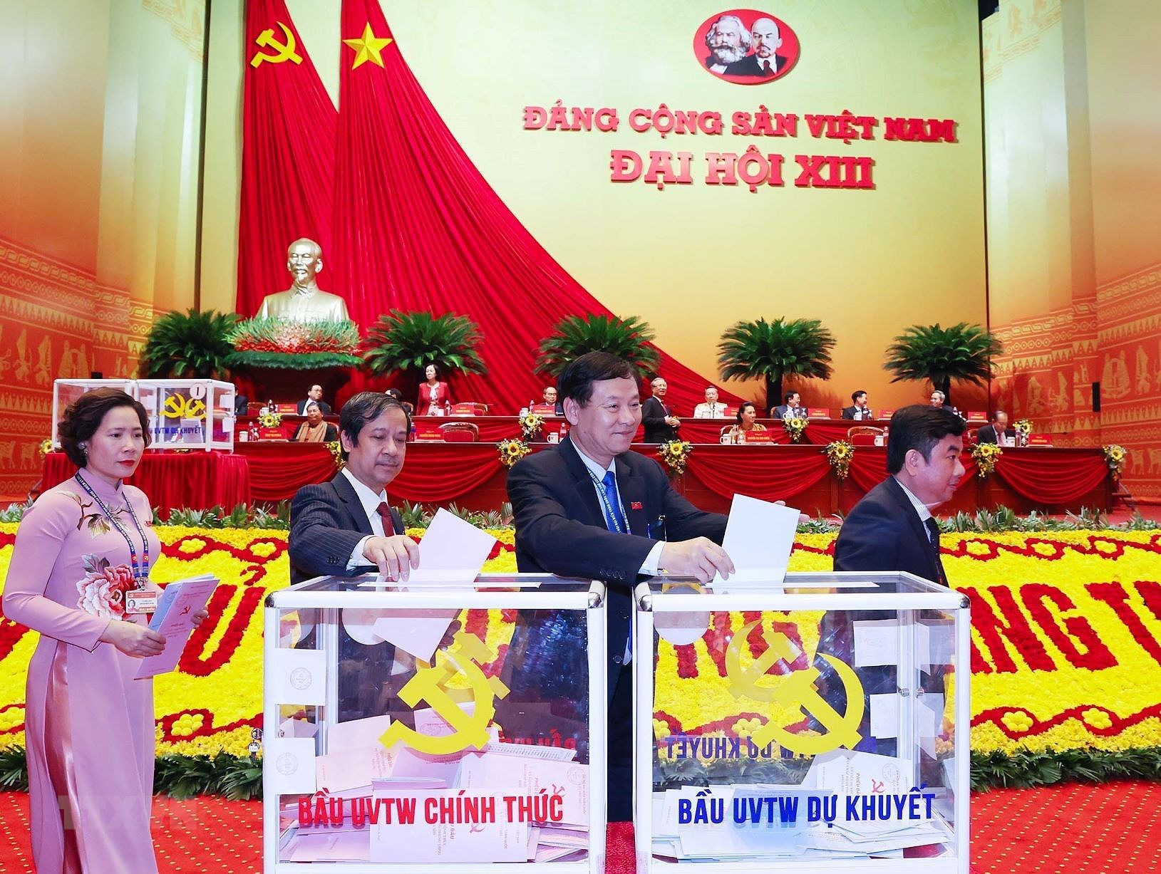 Đại hội XIII đã bỏ phiếu bầu Ban Chấp hành Trung ương khóa mới - Ảnh 6.