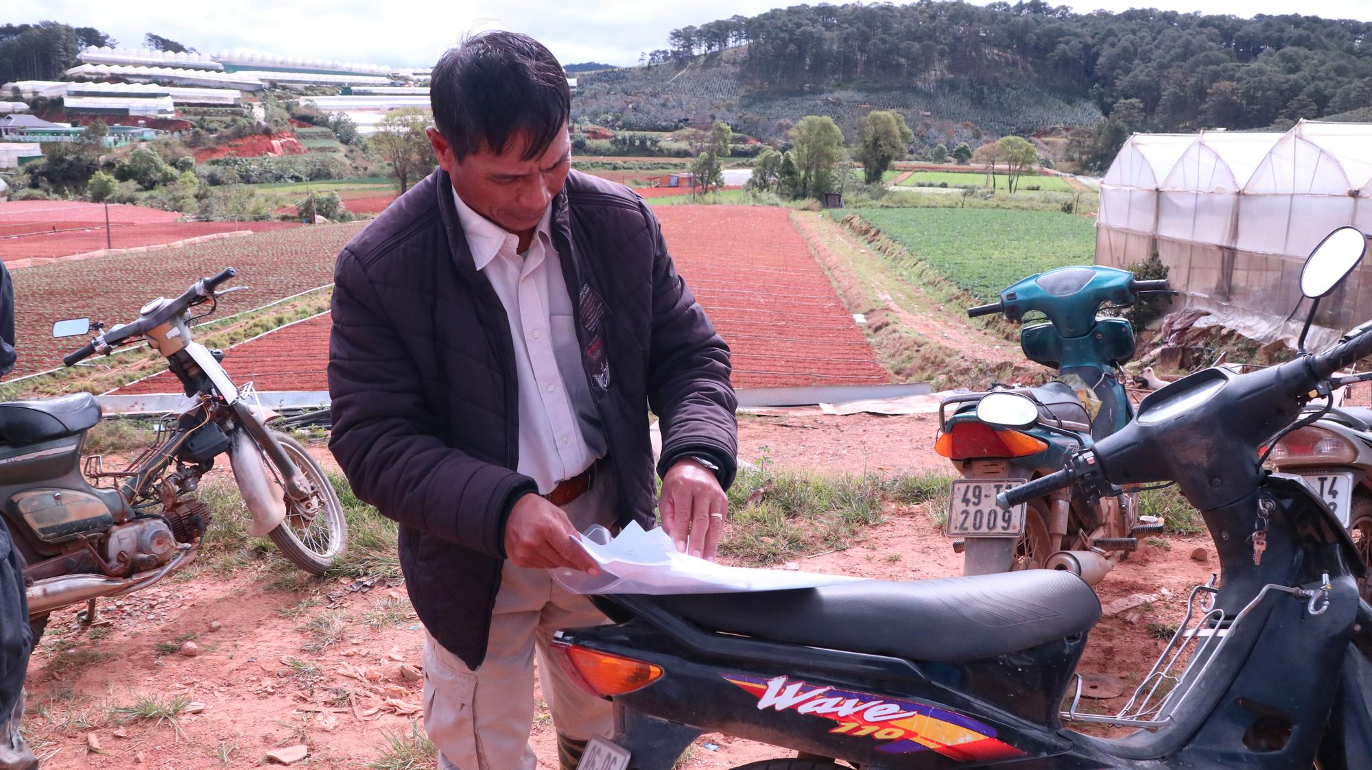Vụ dân cho thuê đất 3 năm không đòi được tiền: Tỉnh Lâm Đồng chỉ đạo xử lý - Ảnh 3.