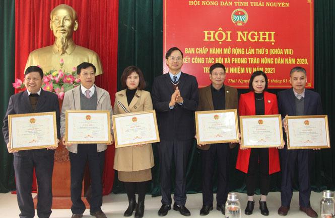 Hội nông dân tỉnh Thái Nguyên tặng bằng khen cho 60 tập thể, 43 cá nhân có thành tích xuất sắc  - Ảnh 1.
