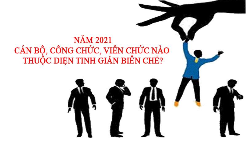 Năm 2021, cán bộ, công chức, viên chức nào thuộc diện tinh giản biên chế? - Ảnh 1.