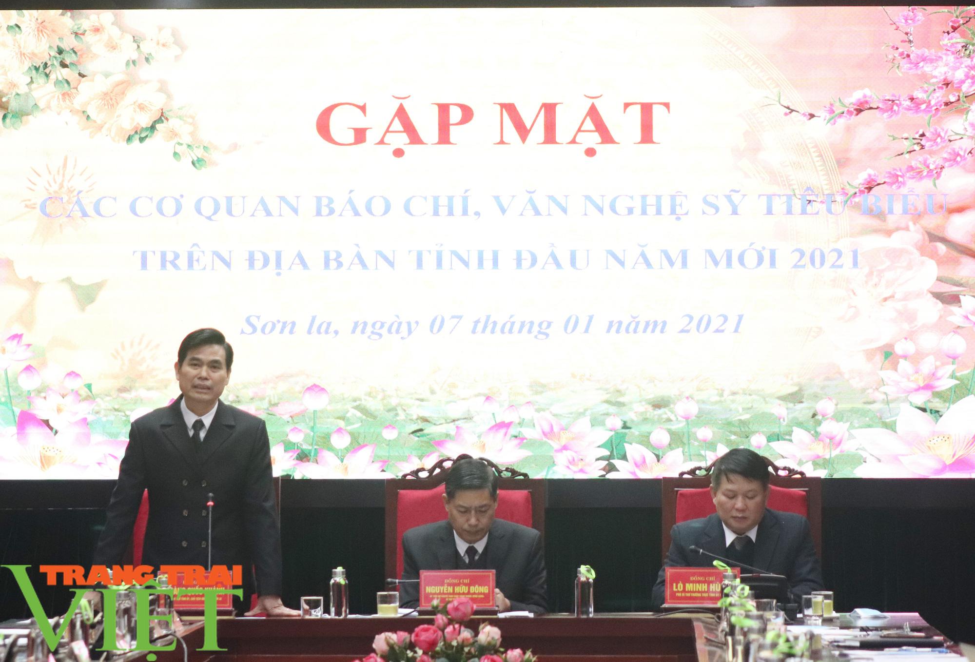 Tỉnh Sơn La gặp mặt các cơ quan báo chí, văn nghệ sỹ  - Ảnh 3.