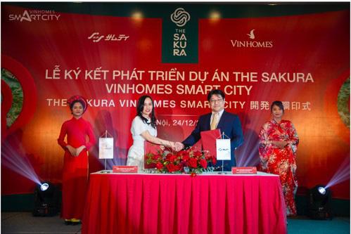 Vinhomes hợp tác tập đoàn Samty phát triển dự án The Sakura - Ảnh 1.