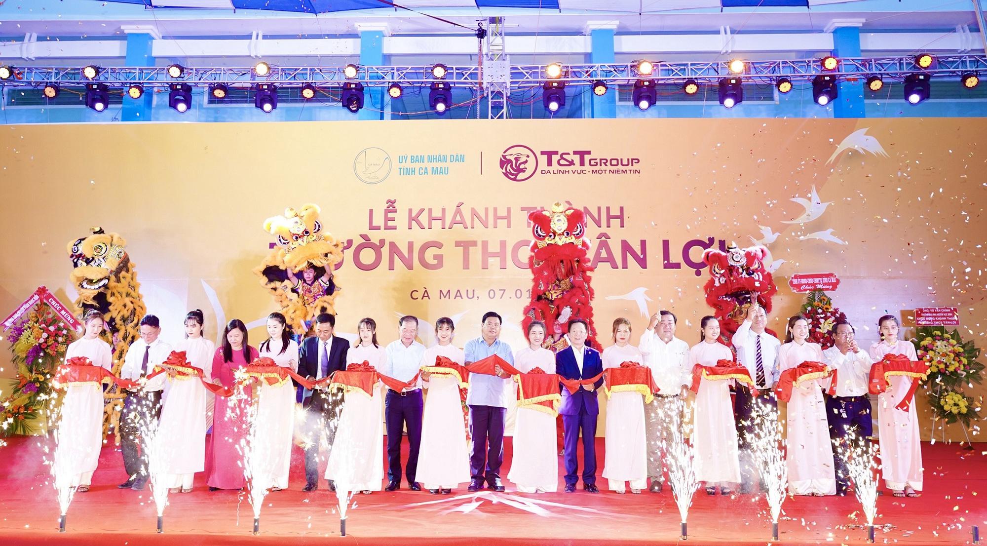 Tập đoàn T&T Group tài trợ xây dựng trường học tại tỉnh Cà Mau - Ảnh 1.