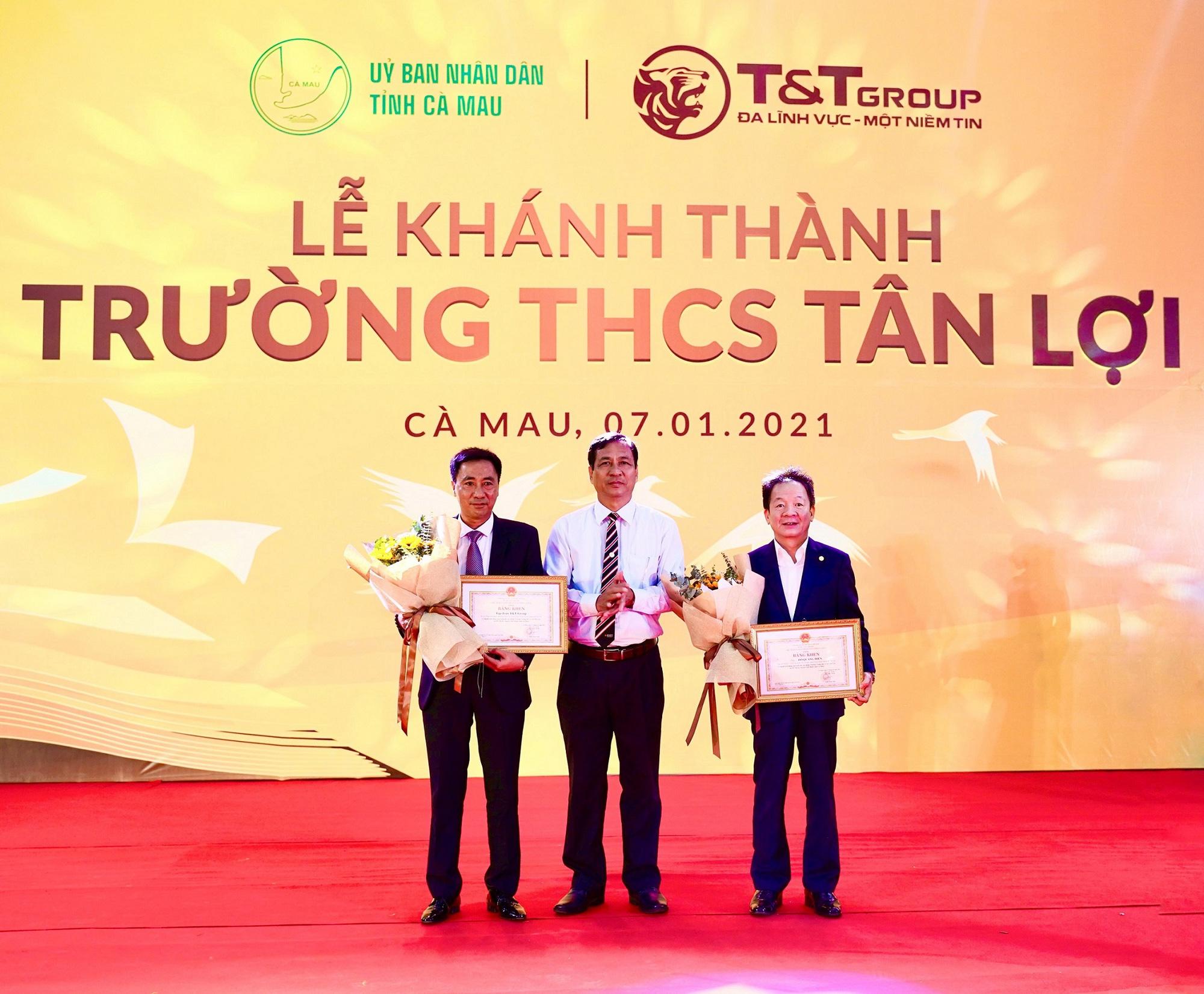 Tập đoàn T&T Group tài trợ xây dựng trường học tại tỉnh Cà Mau - Ảnh 2.