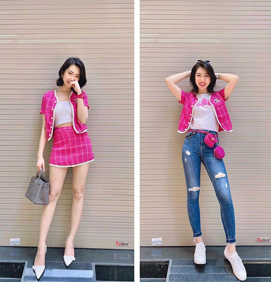 Mỹ nhân mặc quyến rũ tuần qua: Minh Hằng mặc váy yếm, Ngọc Trinh diện váy siêu ngắn - Ảnh 8.