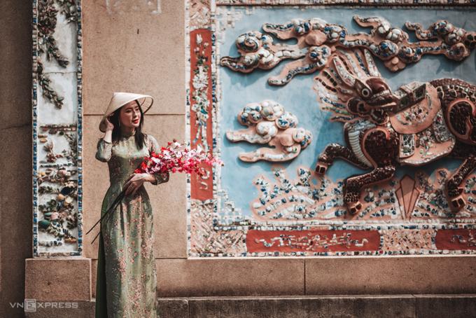 Gợi ý nơi chụp ảnh áo dài Tết đẹp ở Sài Gòn - Ảnh 8.