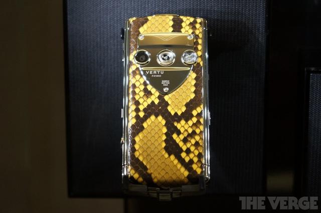 Vertu thậm chí còn áp dụng da rắn cho những chiếc điện thoại của mình làm tăng độ sang trọng lên nhiều lần.