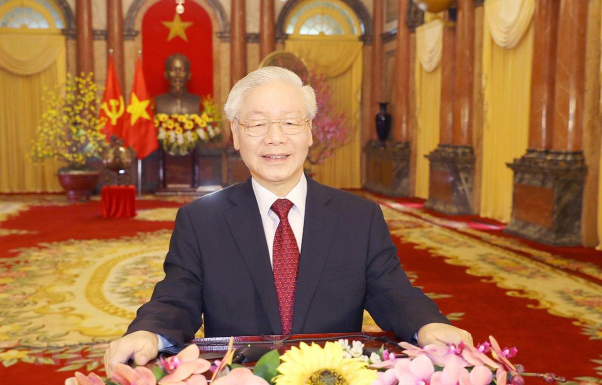 Tổng Bí thư, Chủ tịch nước: Tiếp tục nêu cao tinh thần yêu nước, đoàn kết, vượt qua mọi khó khăn, thách thức - Ảnh 1.