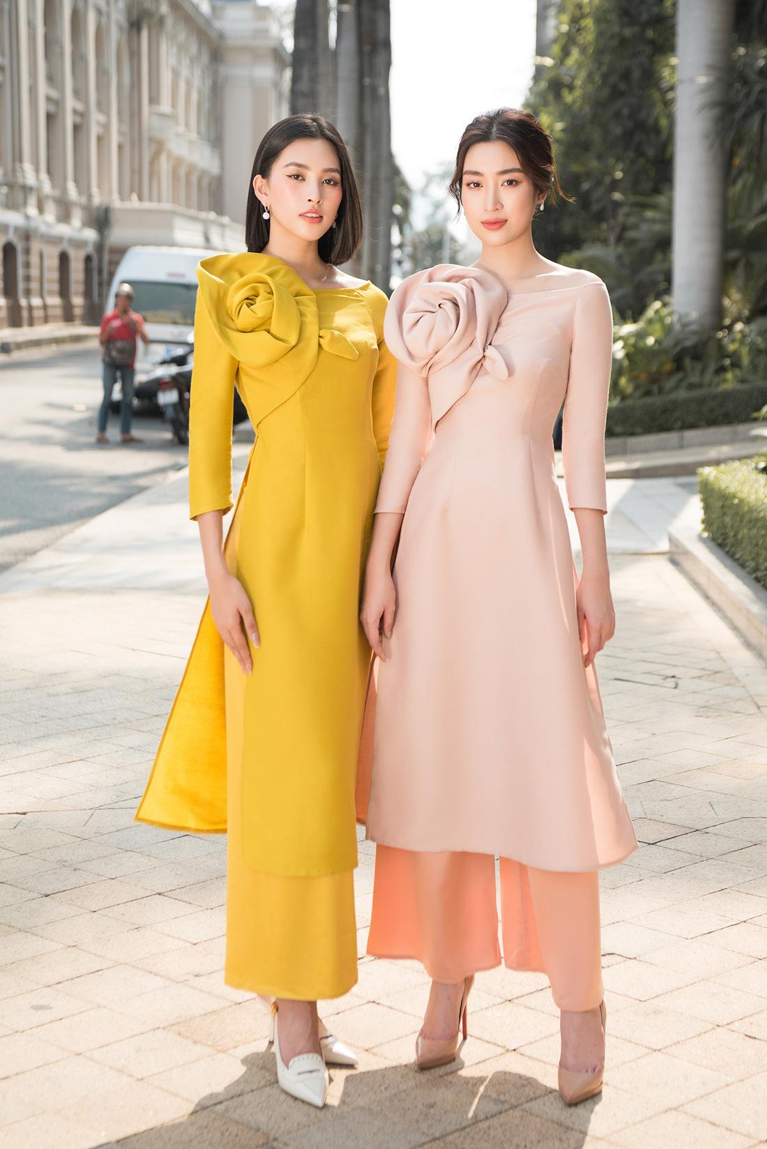 Đỗ Mỹ Linh, Trần Tiểu Vy gợi ý cách mặc áo dài Tết đẹp như hoa hậu - Ảnh 8.