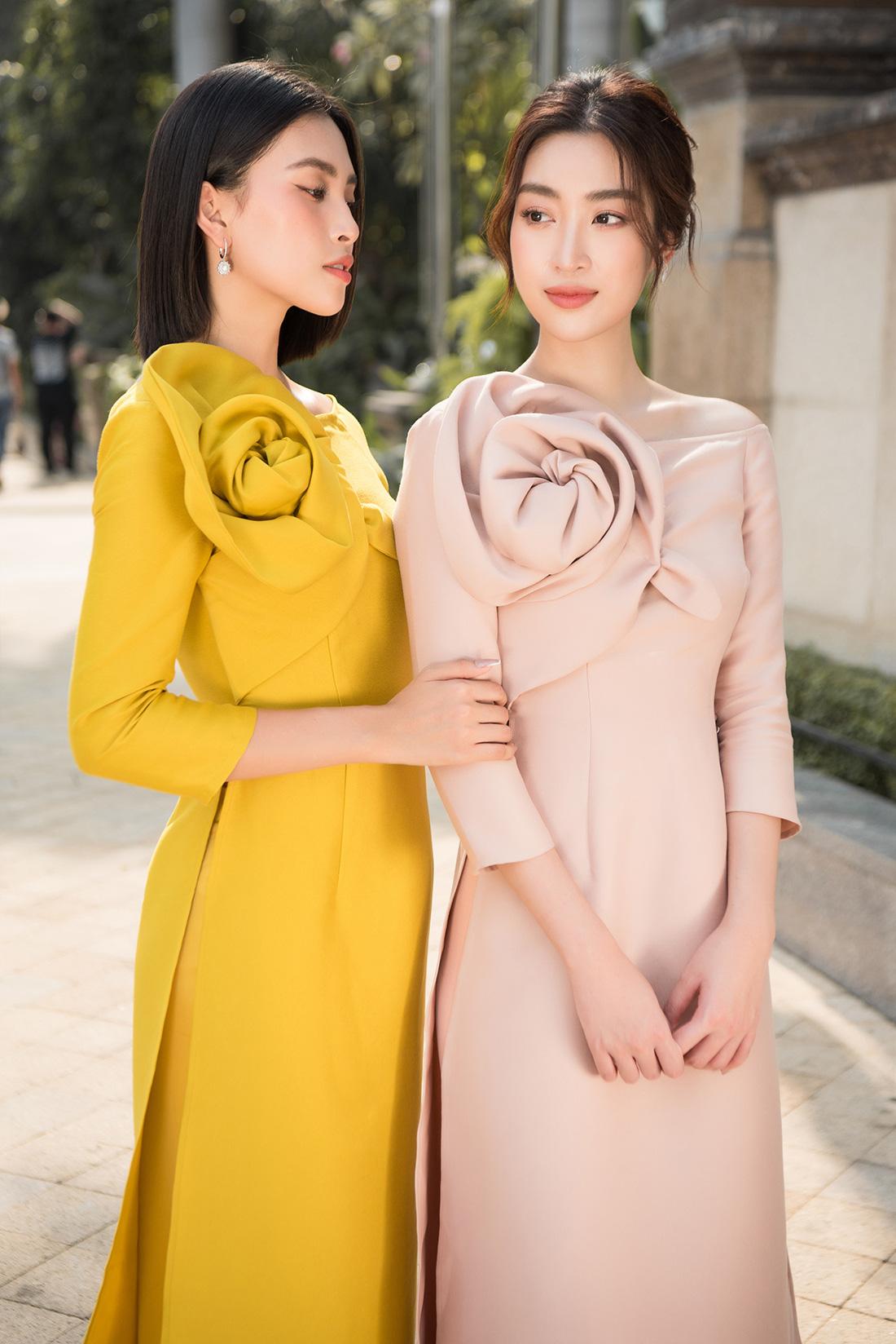 Đỗ Mỹ Linh, Trần Tiểu Vy gợi ý cách mặc áo dài Tết đẹp như hoa hậu - Ảnh 3.