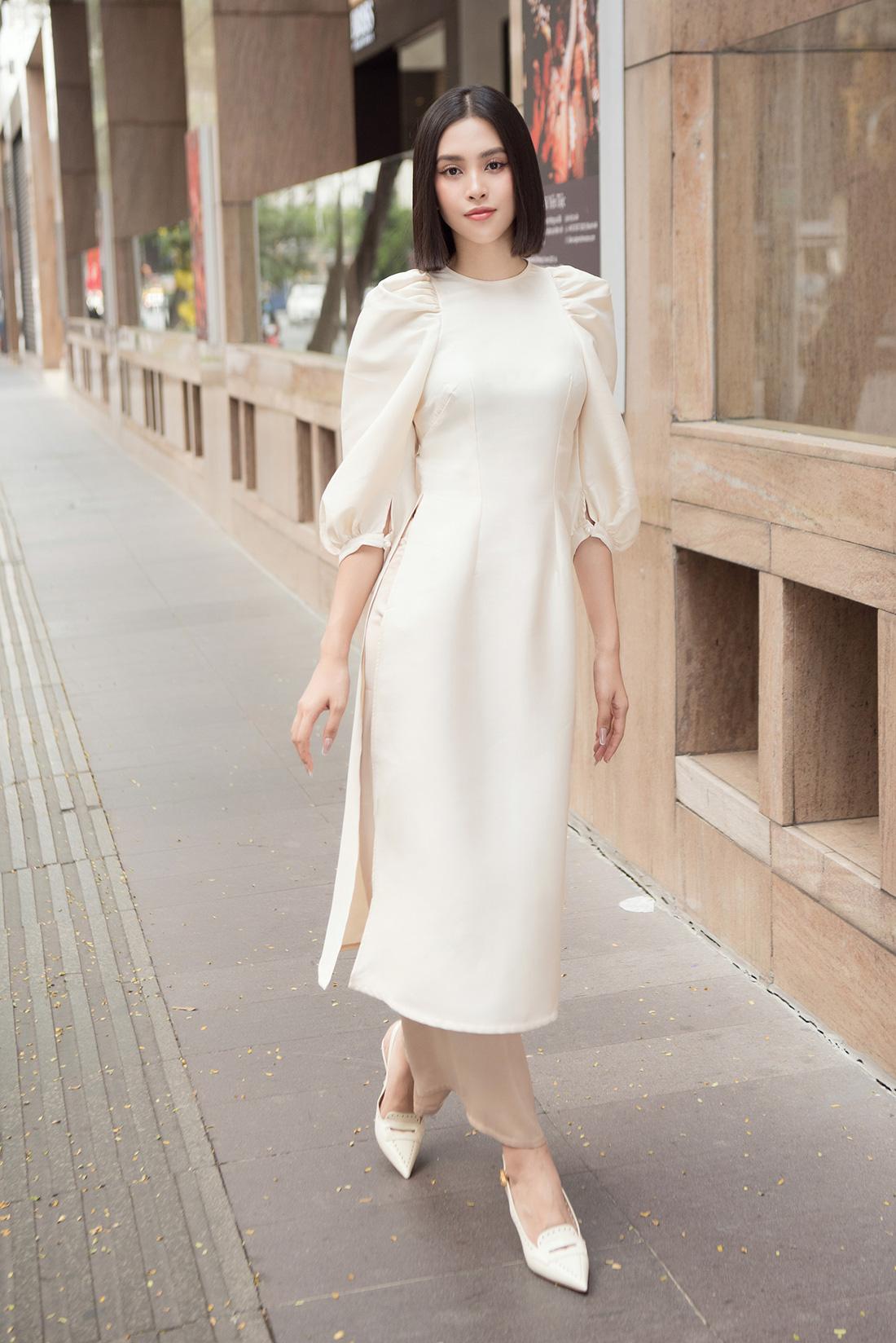 Đỗ Mỹ Linh, Trần Tiểu Vy gợi ý cách mặc áo dài Tết đẹp như hoa hậu - Ảnh 5.