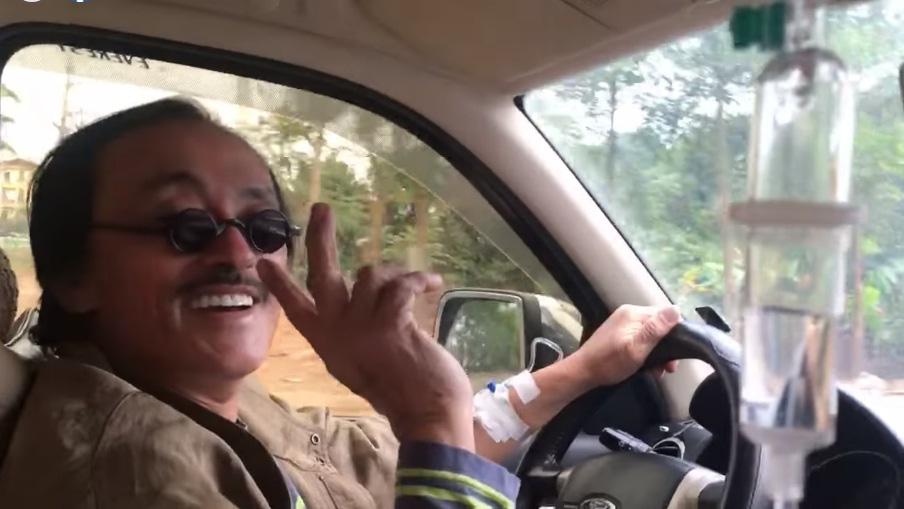 Nghệ sĩ Giang Còi khiến dân tình hoảng hốt với khoảnh khắc trên xe hơi - Ảnh 1.