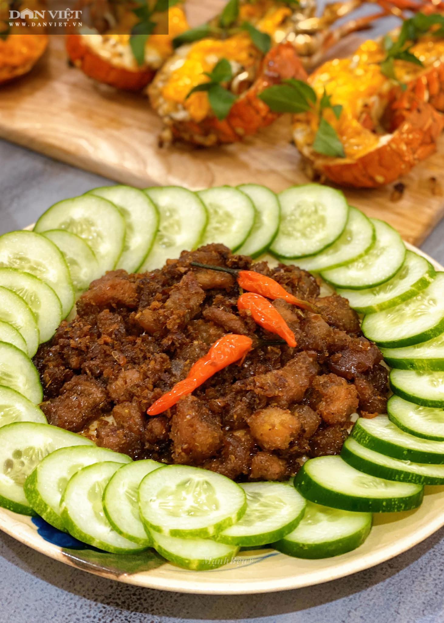 Cách làm món thịt ba rọi ruốc sả hấp dẫn đưa cơm - Ảnh 6.