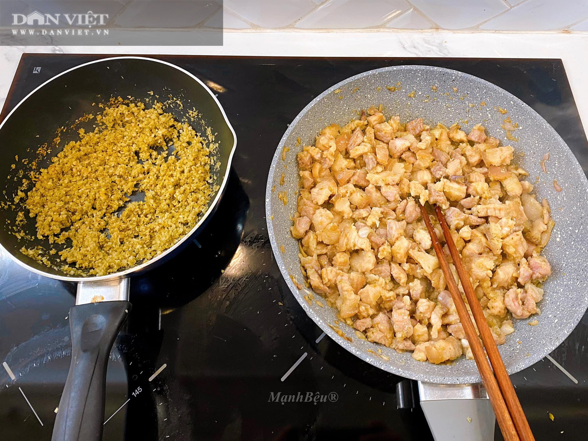 Cách làm món thịt ba rọi ruốc sả hấp dẫn đưa cơm - Ảnh 4.