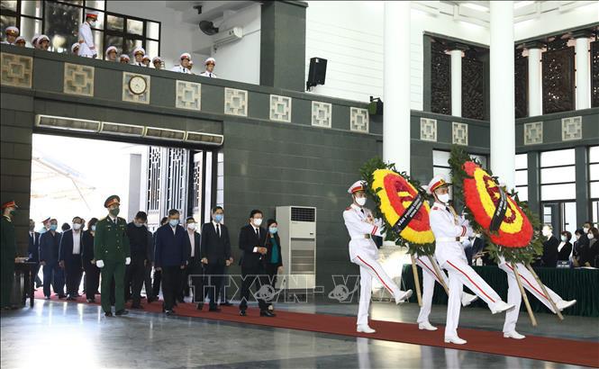 Ảnh: Lễ viếng nguyên Phó Thủ tướng Trương Vĩnh Trọng tại Hà Nội - Ảnh 4.